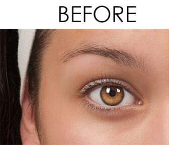 Brow tinting before and after - Bare Body Shop, Omaha, NE esthetic services